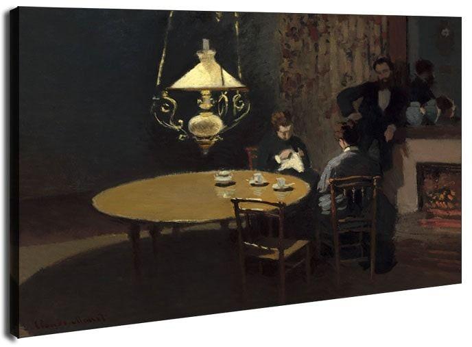 Interior, after dinner, claude monet - obraz na płótnie wymiar do wyboru: 40x30 cm