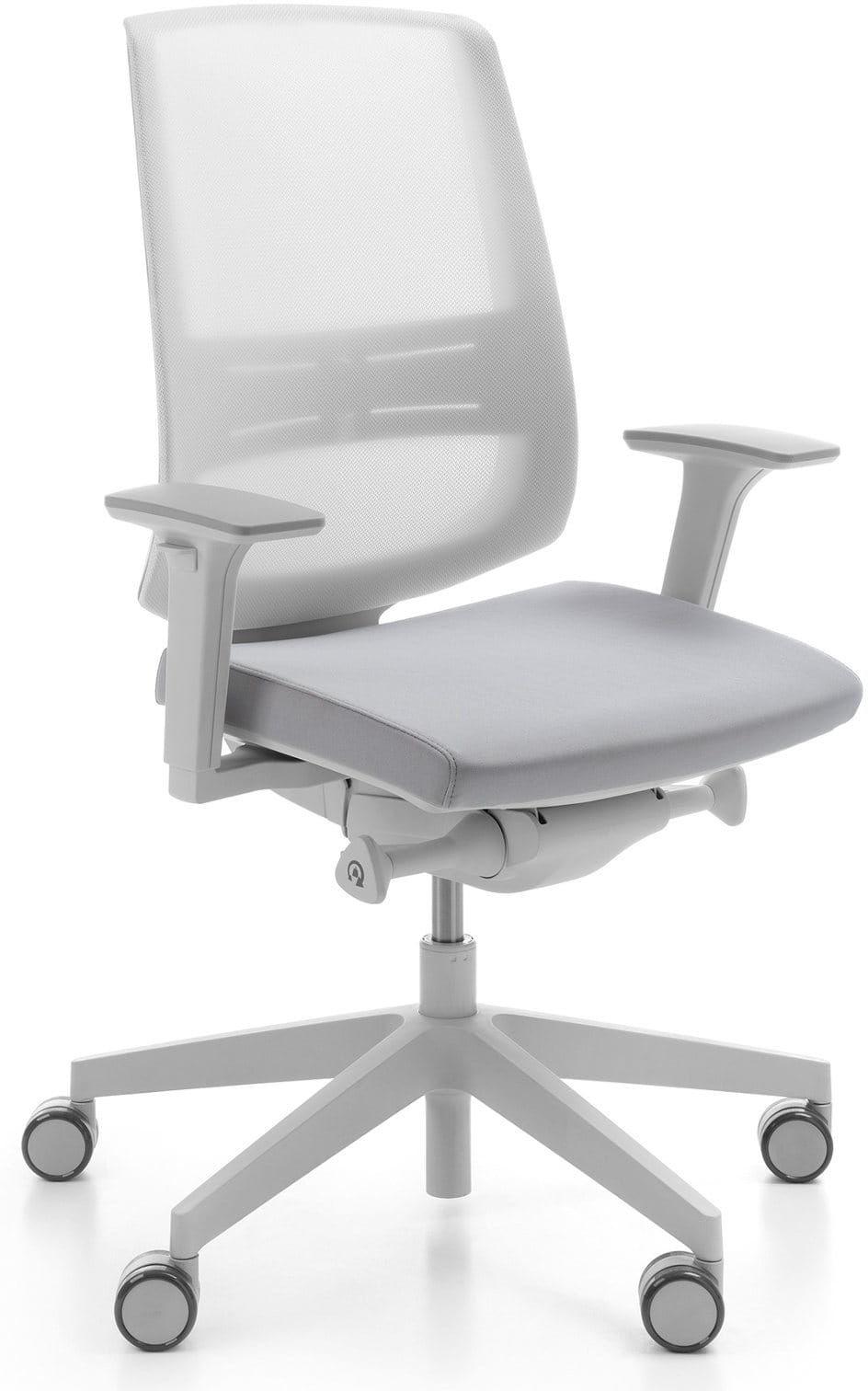 Krzesło ergonomiczne LightUp Net jasnoszary