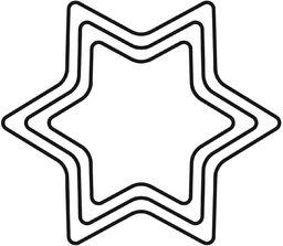 KAISER 3-częściowy zestaw foremek do wykrawania tarasów, gwiazda, Boże Narodzenie, jakość premium, łatwe, precyzyjne wykrawanie, bezpieczne, przyjemne użytkowanie