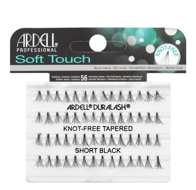 ARDELL - Soft Touch - Subtelne rzęsy w kępkach - 682833 - KNOT-FREE TAPERED - SHORT BLACK
