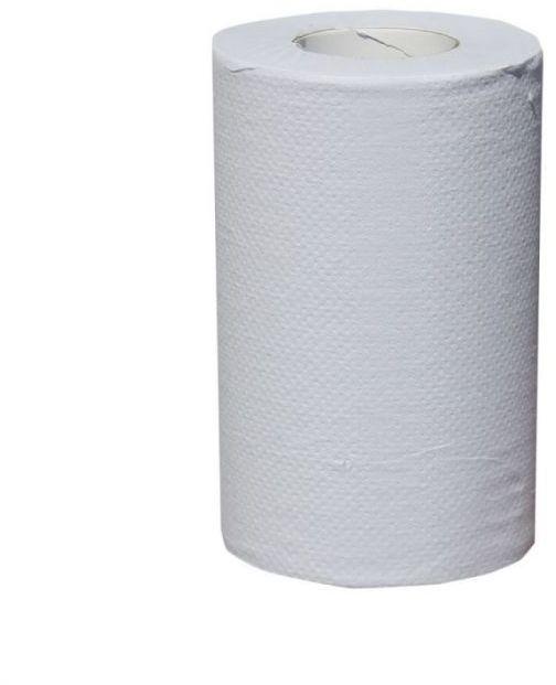 Ręcznik papierowy Merida Klasik mini, śr. 13 cm, dł. 116 m, jednowarstwowy, biały, zgrzewka 12 szt.