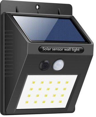Solarna lampa 20 LED z czujka zmierzchu