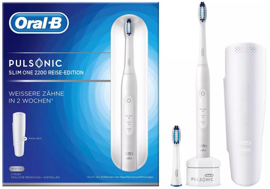 BRAUN Oral-B PULSONIC Slim One 2200 - soniczna szczoteczka elektryczna Oral-B - białe i zdrowe zęby