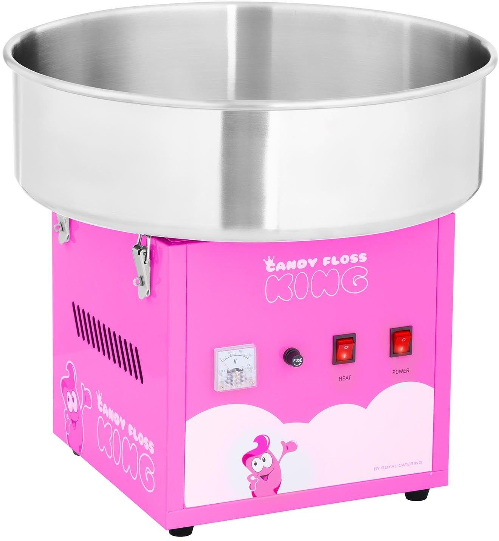 Zestaw Maszyna do waty cukrowej - 52 cm - różowa + Świecące pałeczki LED 50 sztuk - Royal Catering - RCZK-1200-R SET2 - 3 lata gwarancji/wysyłka w 24h