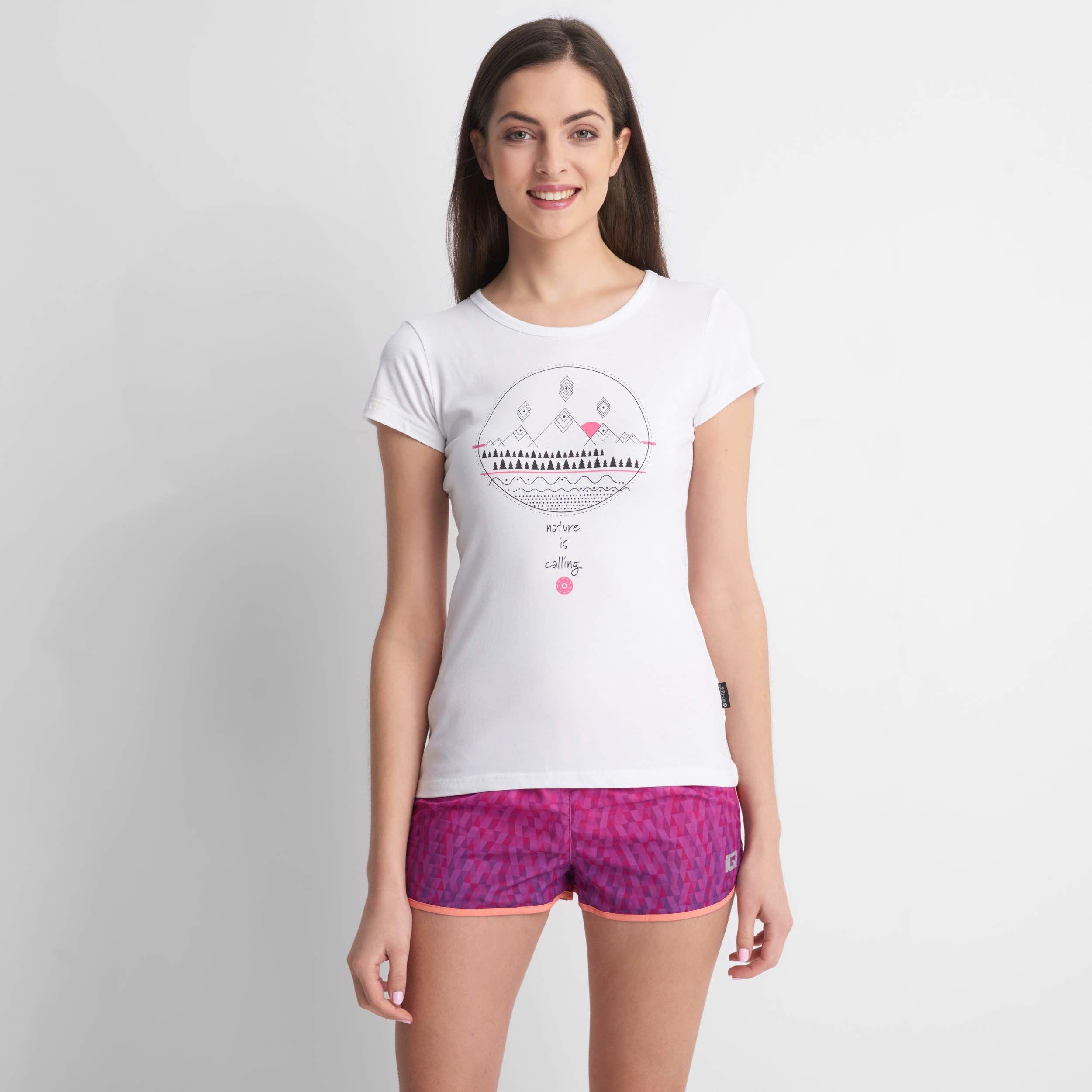 Hi-Tec Wilma T-shirt damski biały biały X-S