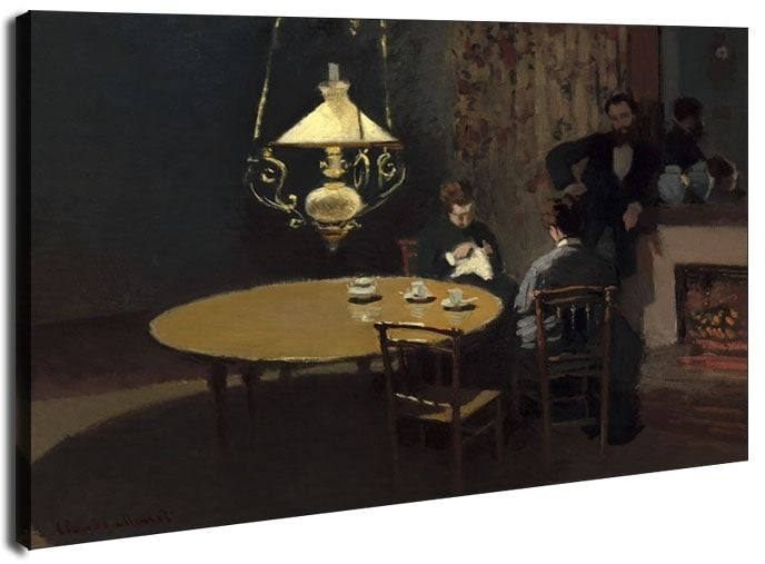 Interior, after dinner, claude monet - obraz na płótnie wymiar do wyboru: 70x50 cm
