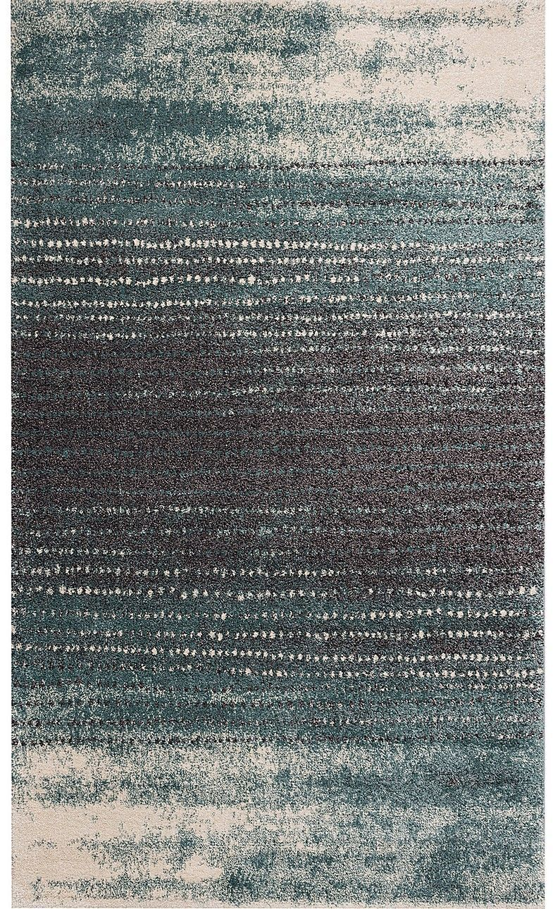 Dywan Modern Teal blue/ dark grey 200x290cm