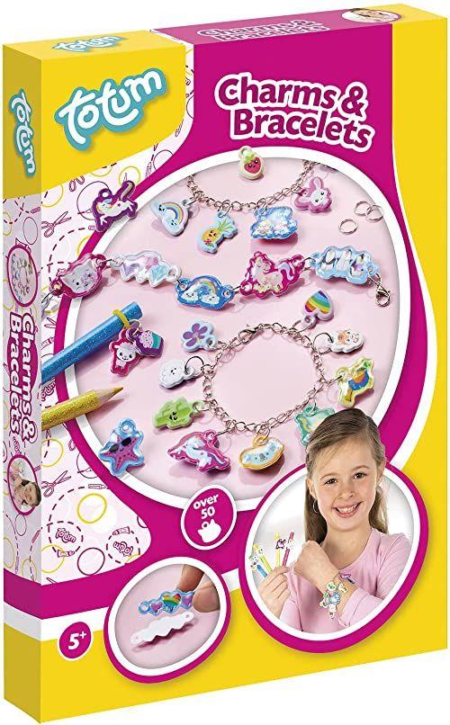 Zestaw do majsterkowania Charms & Bracelety: bransoletki i zawieszki z różnych charmsów 3D i kolorowych motywów, bransoletki z zawieszkami do samodzielnego wykonania