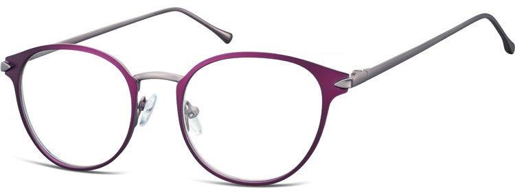 Oprawki okularowe kocie oczy damskie stalowe Sunoptic 940C bordowe