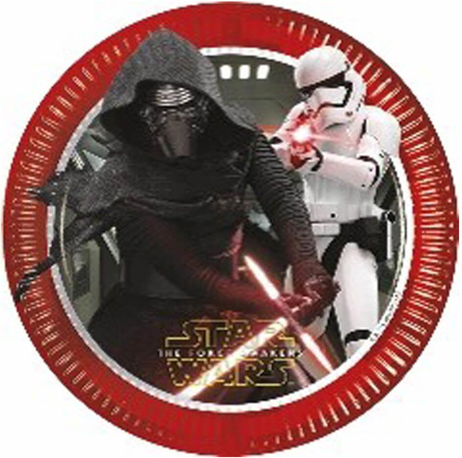 Talerzyki urodzinowe Star Wars Justice - 23 cm - 8 szt.