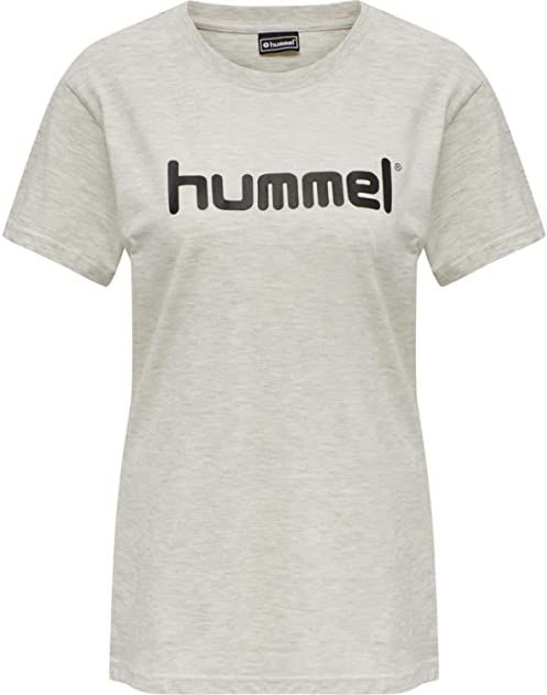 Hummel Damska koszulka Hmlgo Cotton Logo T-shirt Woman S/S Egret Melange S
