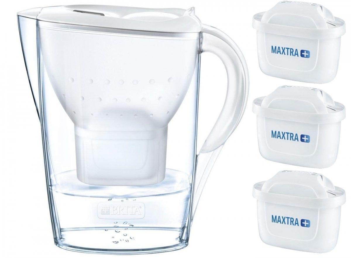 Dzbanek do wody Brita Marella Cool Biały - 2,4L + 4szt filtrów Brita MAXTRA