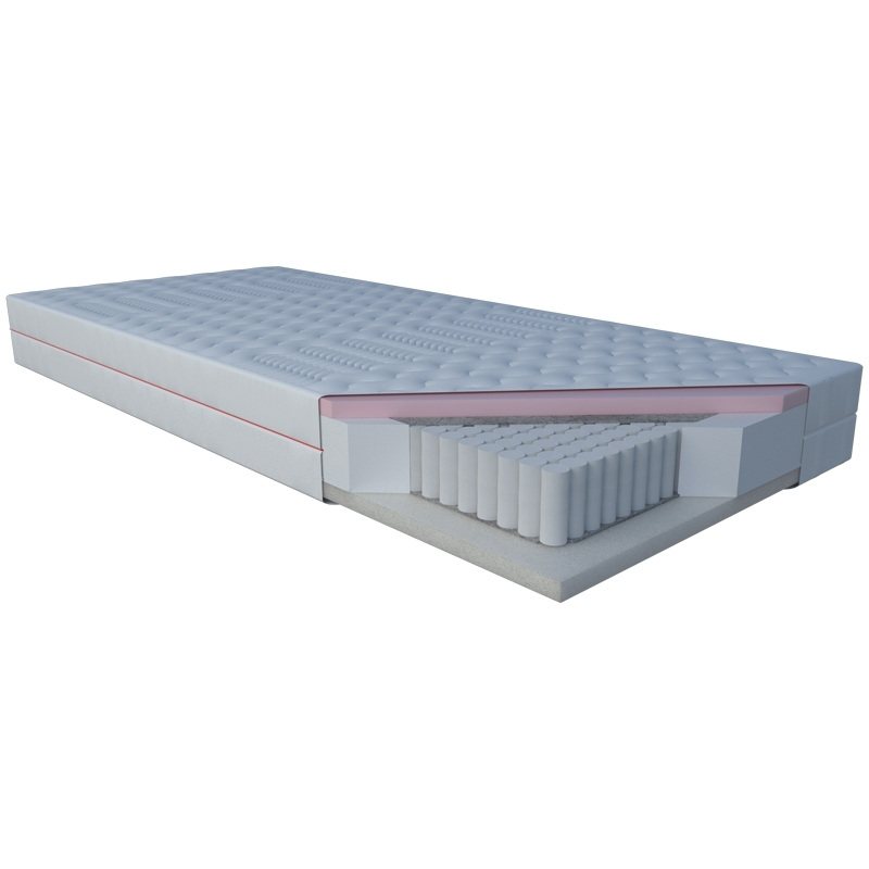 Materac NIOBE JANPOL kieszeniowy : Rozmiar - 200x190, Pokrowce Janpol - Silver Protect