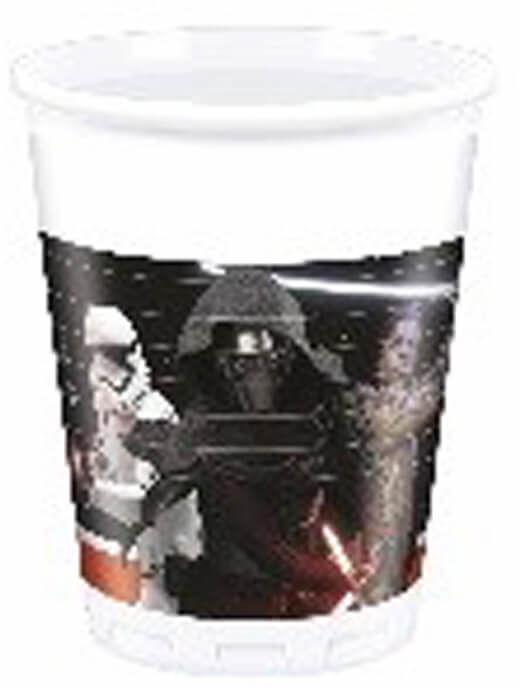 Kubeczki urodzinowe Star Wars Justice - 200 ml - 8 szt.