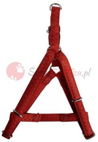 Zolux szelki regulowane Mac Leather 10mm czerwone