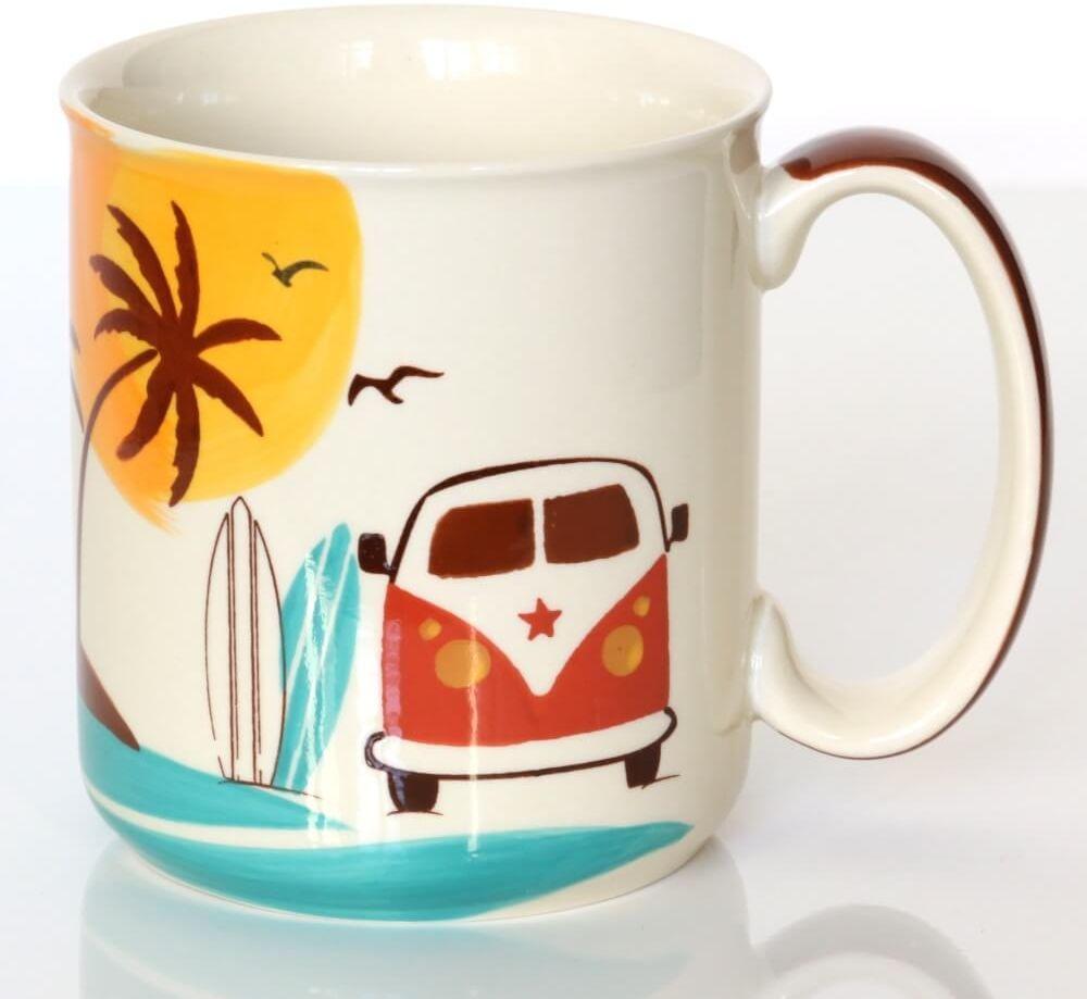 Kubek SUNSET  ręcznie malowane naczynie na kawę herbatę z letnim motywem, uroczy podarunek prezent dla przyjaciela kolegi