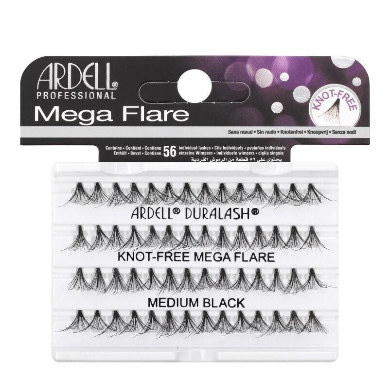 ARDELL - Mega Flare - Pogrubione rzęsy w kępkach - 652805 - KNOT-FREE MEGA FLARE - MEDIUM BLACK