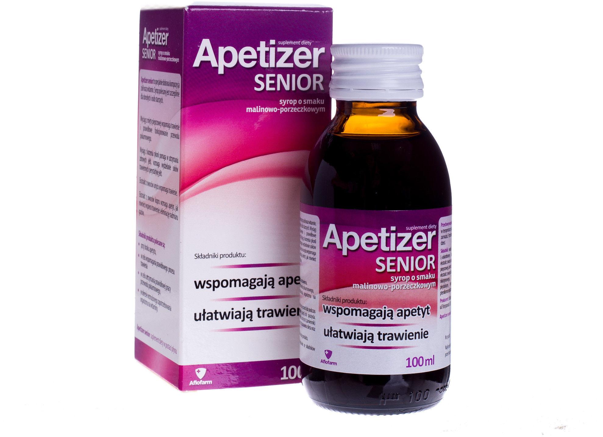 Apetizer Senior Suplement diety syrop o smaku malinowo-porzeczkowym 100 ml
