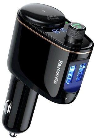 Baseus Locomotive Transmiter FM bluetooth MP3 ładowarka samochodowa 2xUSB 3.4A + gniazdo zapalniczki