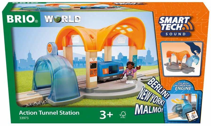 BRIO 63397300 Stacja Kolejowa (63397300) Bezpieczna Zabawka Dla Dzieci Powyżej 3 Lat