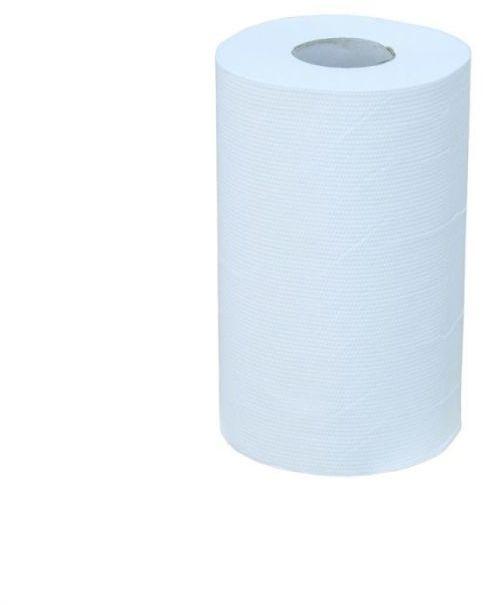 Ręcznik papierowy Merida premium mini, śr. 13 cm, dł. 44 m, trzywarstwowy, biały,zgrzewka 12 szt.