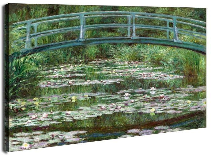 Japoński mostek w giverny, claude monet - obraz na płótnie wymiar do wyboru: 40x30 cm