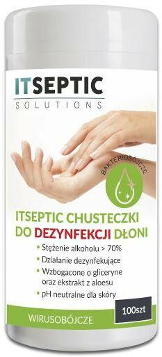ITSEPTIC chusteczki do dezynfekcji dłoni 100 szt.