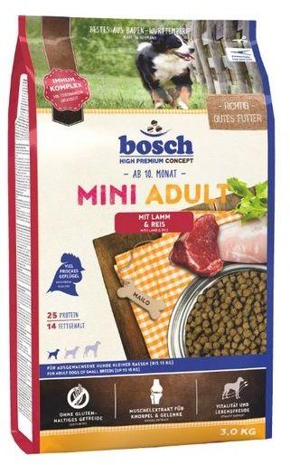 Bosch Mini Adult Lamm & Reis - Jagnięcina i ryż 3kg