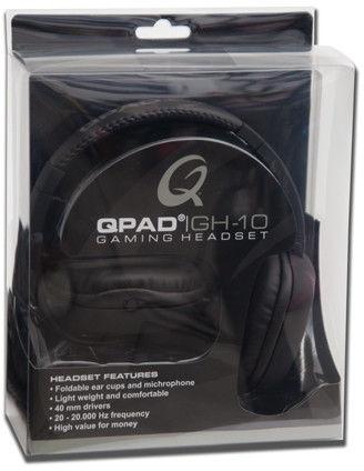 QPAD GH-10 słuchawki z mikrofonem czarne +9 sklepów - przyjdź przetestuj lub zamów online+