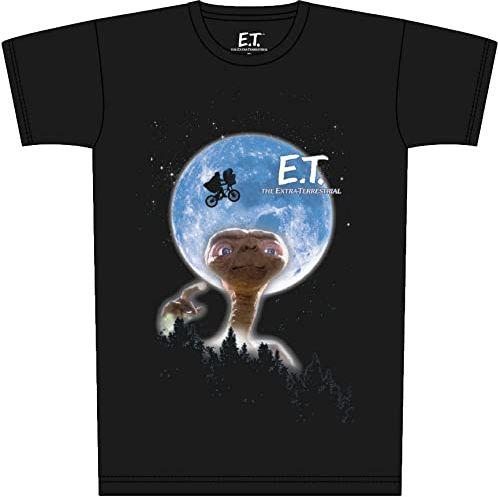 E.T. Moon plakat t-shirt czarny, z nadrukiem, ze 100% bawełny.