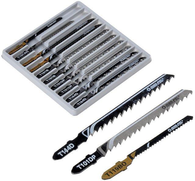 Nożyki noże do wyrzynarki brzeszczoty zestaw 10szt