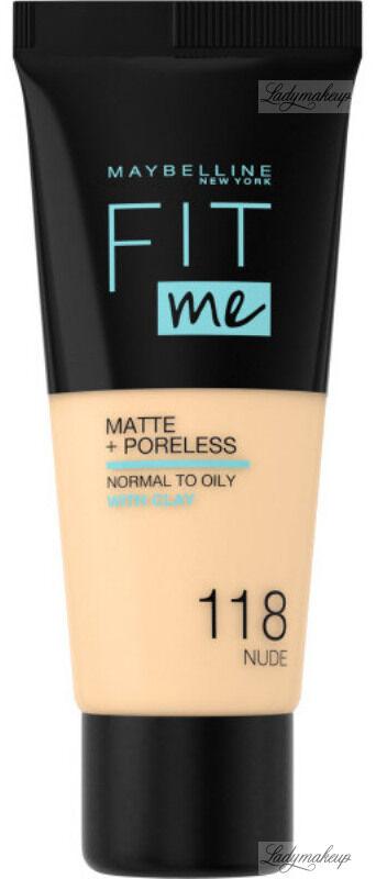 MAYBELLINE - FIT ME! Liquid Foundation For Normal To Oily Skin With Clay - Podkład matujący do twarzy z glinką - 118 NUDE