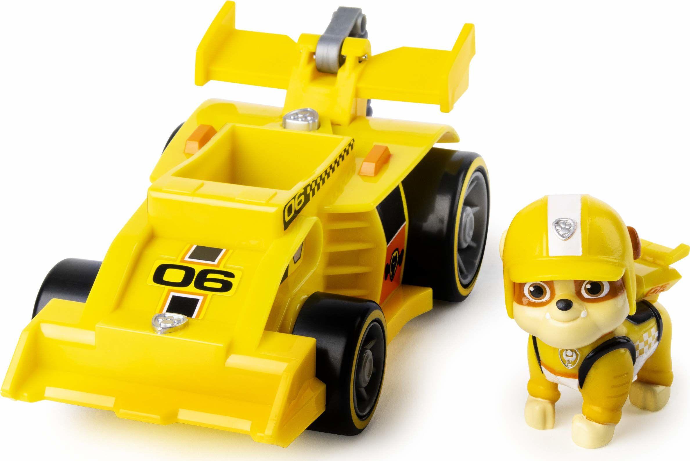 PAW Patrol Gotowy, wyścigowy, ratowniczy Rubble''s Race & Go Deluxe pojazd z dźwiękami, dla dzieci w wieku od 3 lat