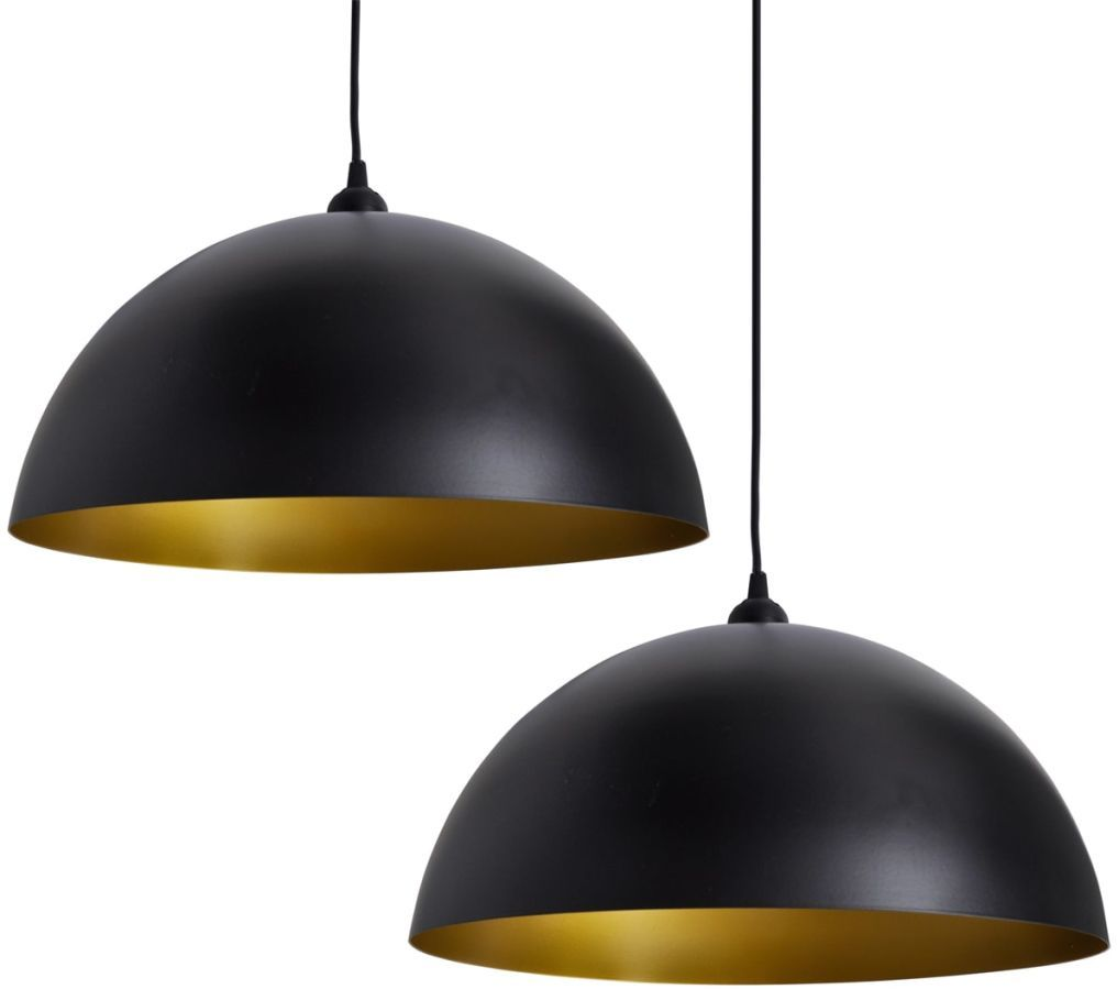 Czarne lampy wiszące z regulacją 2 sztuki - E985-Noris