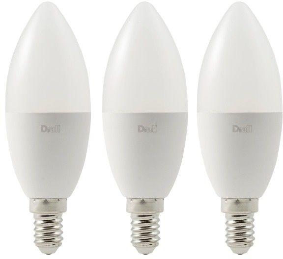 Żarówka LED Diall C37 E14 8 W 806 lm mleczna barwa zimna DIM 3 szt.
