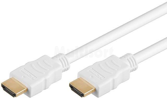 Kabel HDMI 1.4 HDMI wtyk z obu stron 3m biały