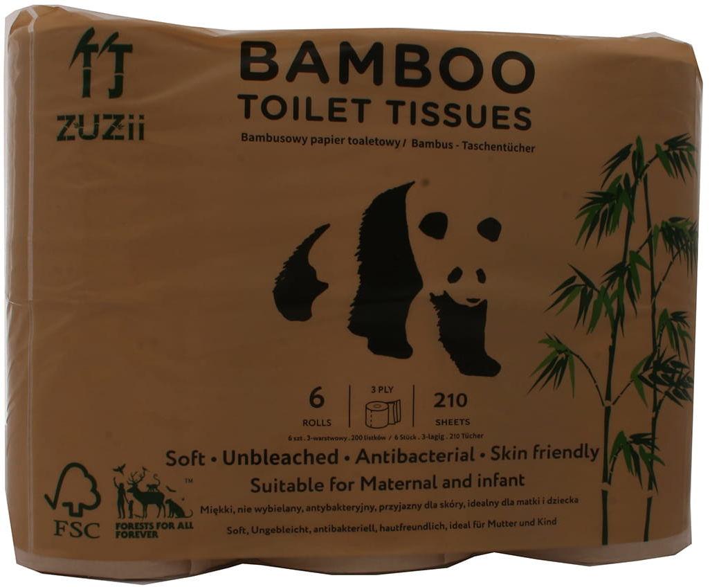 Papier toaletowy bambusowy - Yuju - 6 rolek