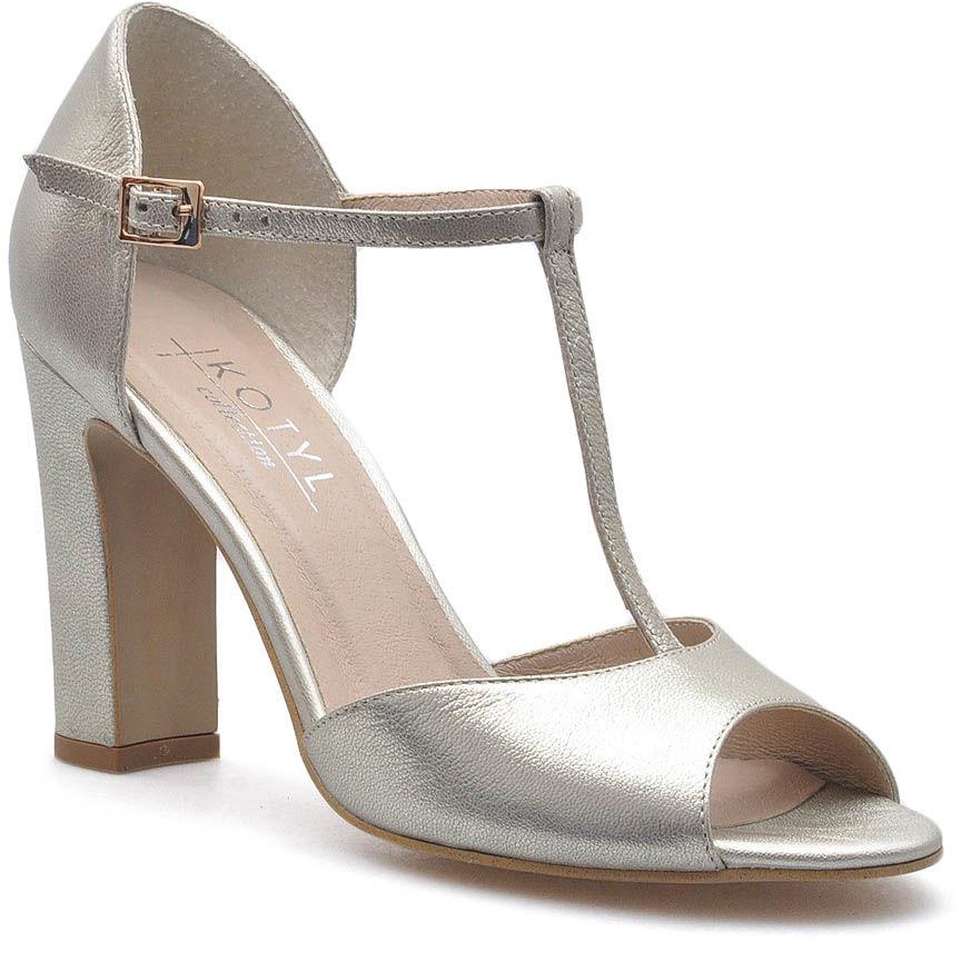 Sandały Kotyl 5935 Złote lico