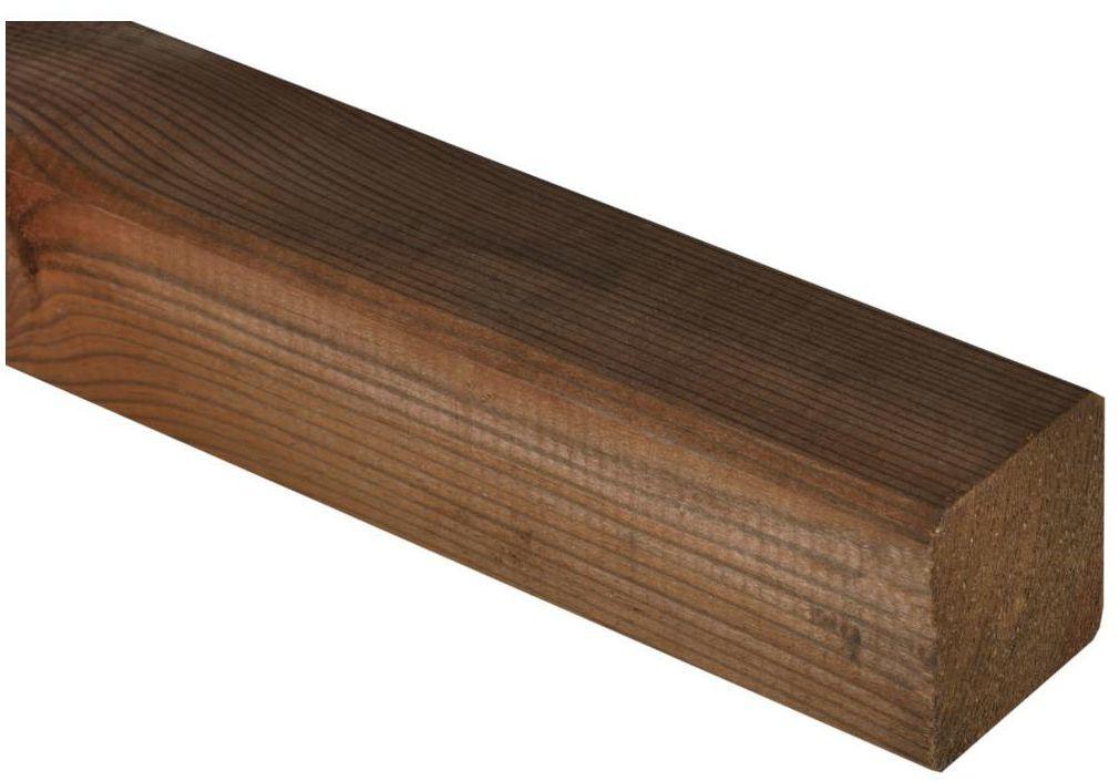 Kantówka drewniana 7x7x180 cm brązowa NIVE NATERIAL
