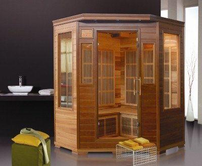 KOMBI Sauna na podczerwień 2-osobowa 124x116 cm 60635