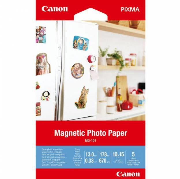 Magnetyczny papier fotograficzny CANON MG-101 - 10x15, 5 arkuszy (3634C002)