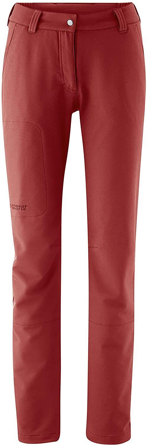 Maier Sports Damskie spodnie outdoorowe Helga Slim czerwony Sun-dried Tomato 44
