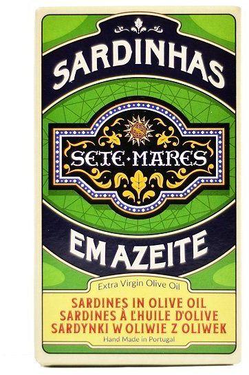 Sardynki w oliwie z oliwek extra virgin 120g Sete Mares