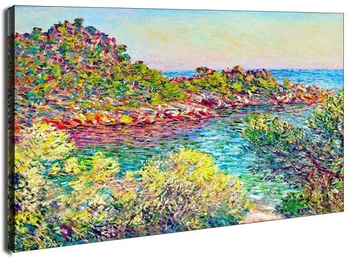 Landscape near montecarlo, claude monet - obraz na płótnie wymiar do wyboru: 40x30 cm