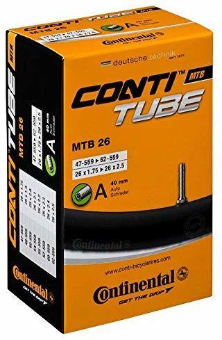 Continental Contitube MTB 26 Dętka Rowerowa, Czarny, A40