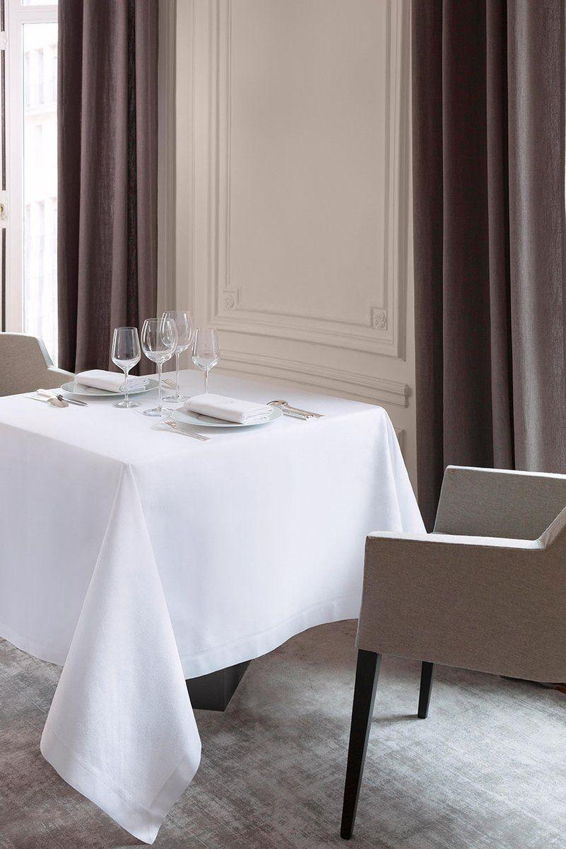 Obrus żakardowy Le Jacquard Fran ais Offre White Natte