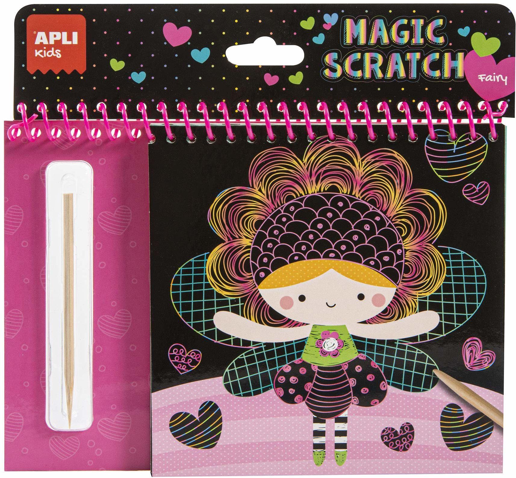 Apli Kids Magic Scratch Art zestaw wróżek czarny 16525