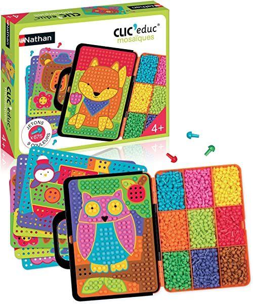 Nathan Clic educ mozaika  gra edukacyjna dla kolorów od 4 lat