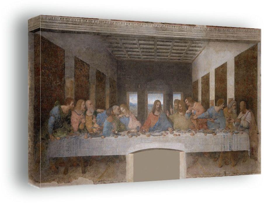 Ostatnia wieczerza - leonardo da vinci - obraz na płótnie wymiar do wyboru: 80x60 cm