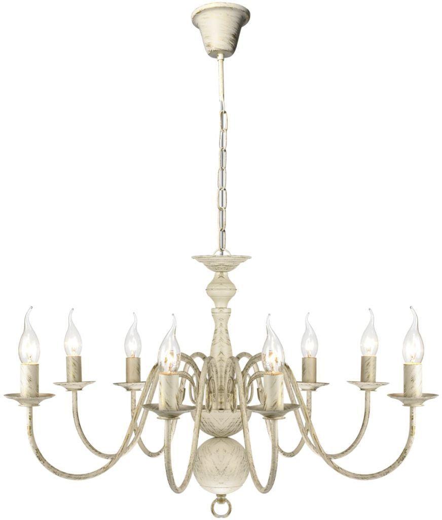Biały antyczny żyrandol świecznik - E993-Edyp
